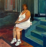 Don't Sit on the Steps, 24x24, a/c